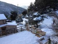 La neige envahie le domaine de l'Euzière