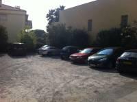 Vue du parking avant refection