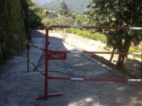 Départ du chantier après mise en place des dispositifs d'avertissement